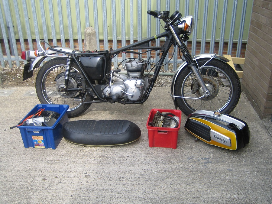 1975 Triumph Trident T150: This required a full mechanical re-commission